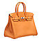 Hermes-birkin-35-orange-togo-leather-silver-hardware